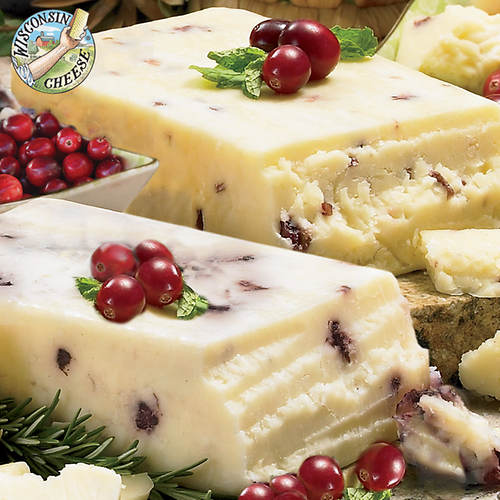 Cranberry and Blueberry Cheddar Cheese