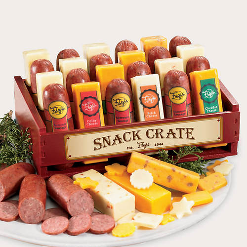 Snack Crate of Cheese & Sausage