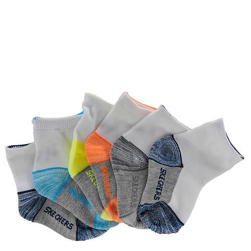 Skechers Boys' S105798 6-Pack Non Terry Ankle Socks