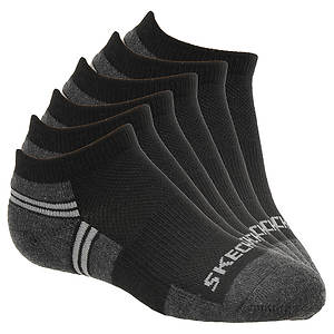 Skechers Boys' S105714 6-Pack Half Terry Low Cut Socks