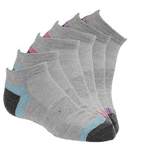 Skechers Girls' S104784 6-Pack Non Terry Fashion Low Cut Socks