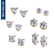 CZ 6-Pair Earring Set