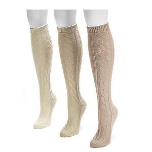 Muk Luks Women's 3-Pack Micro Knee High Socks