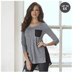 Double-Dare Heathered Tunic