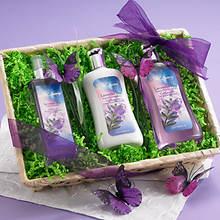 Lavender Sky Bath Basket
