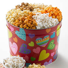 Groovy Hearts Popcorn Tin 6-Way
