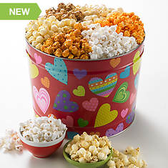 Groovy Hearts Popcorn Tin - 3 Way
