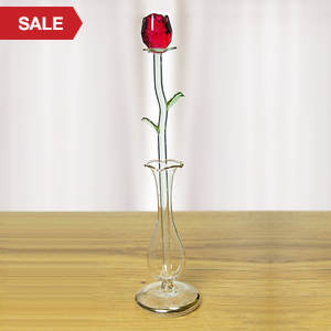 Eternally Yours Glass Rose