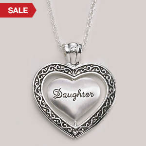 Keepsake Heart Necklace - Daughter