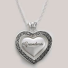 Keepsake Heart Necklace - Grandma