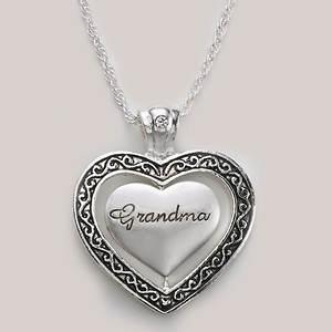 Keepsake Heart Necklace - Grandma