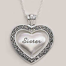 Keepsake Heart Necklace - Sister