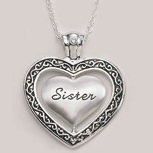 Keepsake Heart Necklace - Sister