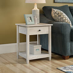 Sauder Edge Water Collection Side Table with Drawer