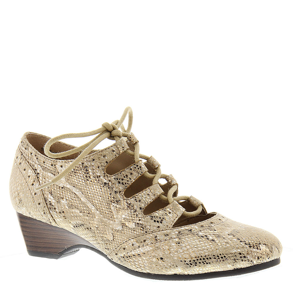 Art Deco Shoes Styles of the 1920s and 1930s Bella Vita Posie II Womens Gold Pump 7 W $99.95 AT vintagedancer.com