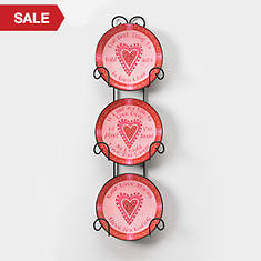 Valentine Plates and Holder