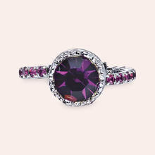 Crystal Crown Ring - Amethyst