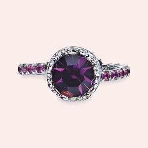 Crystal Crown Ring - Amethyst