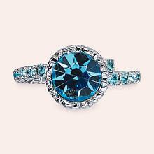 Crystal Crown Ring - Aquamarine