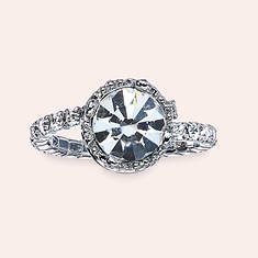 Crystal Crown Ring - Diamond