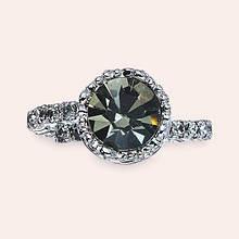Crystal Crown Ring - Black Diamond