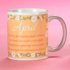 Personalized Birth Month Fairy Mug - April