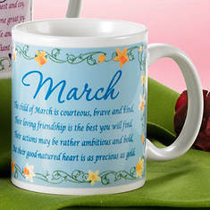 Personalized Birth Month Fairy Mug - March