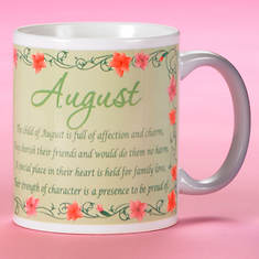 Personalized Birth Month Fairy Mug - August