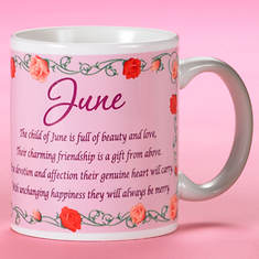 Personalized Birth Month Fairy Mug - June