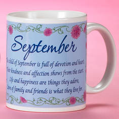 Personalized Birth Month Fairy Mug - September