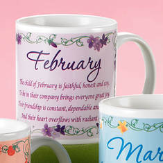 Personalized Birth Month Fairy Mug - February