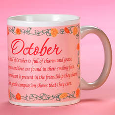 Personalized Birth Month Fairy Mug - October