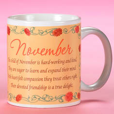 Personalized Birth Month Fairy Mug - November