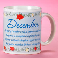 Personalized Birth Month Fairy Mug - December