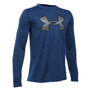 Under Armour Boys' Tech Novelty Big Logo LS Tee
