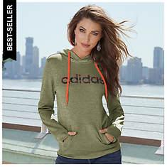 Adidas Women's Team Issue Fleece Pullover Logo Hoodie
