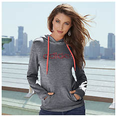 Adidas Women's Team Issue Fleece Pullover Logo Hoodie