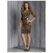 Leopard Side Buckle Dress