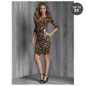 Leopard Side Buckle Dress