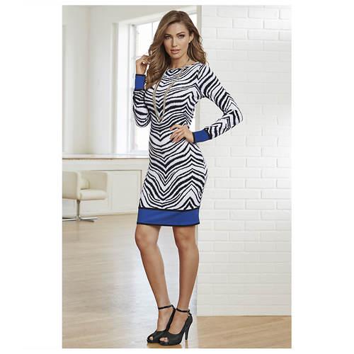 Zebra Shift Dress