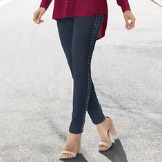 Studded Skinny 5-Pocket Jeans