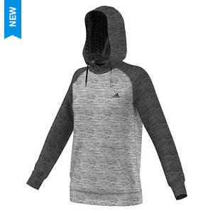 Adidas Women's Team Issue Brushed Glitch Print Fleece Hoodie