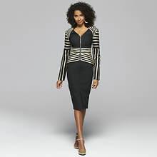 Structured Denim Skirt Suit