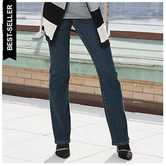 Stretch Waist Boot Cut Jeans