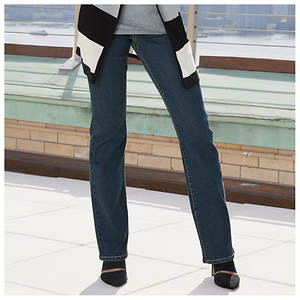 Stretch Waist Boot Cut Jeans