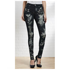 Bleach Front Skinny Jeans