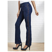 Lace-Up Boot Cut Jeans
