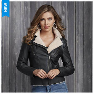 Faux Shearling Moto Jacket