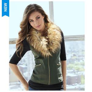 Fur Collar Vest