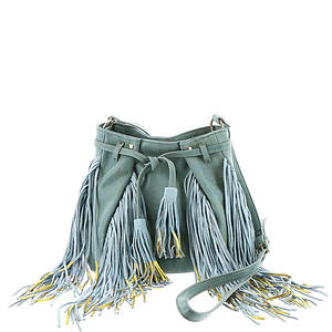 Steven By Steve Madden Barbey Gold Dipped Fringe Crossbody Bag